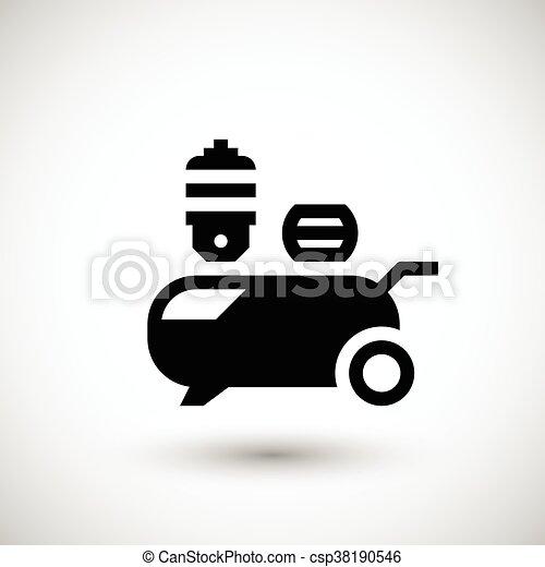 Air compressor icon - csp38190546
