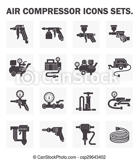 Air compressor icon - csp29643402
