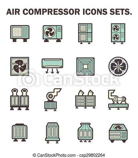 air compressor icons - csp29802264