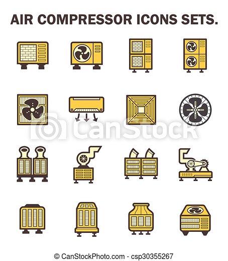 air compressor icons - csp30355267