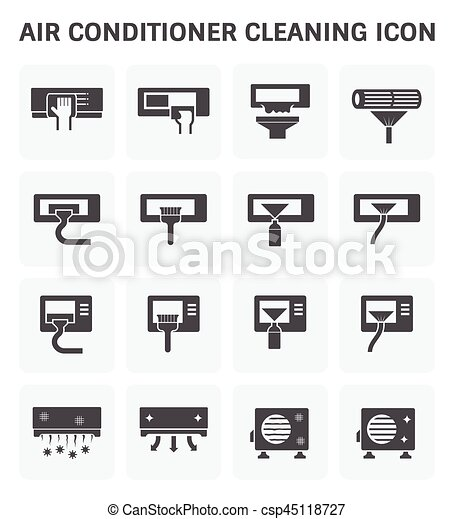 Air conditioner cleaning - csp45118727