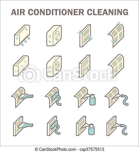 Air conditioner cleaning - csp37575513