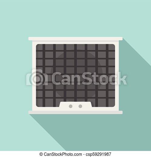 Air conditioner compressor icon, flat style - csp59291987