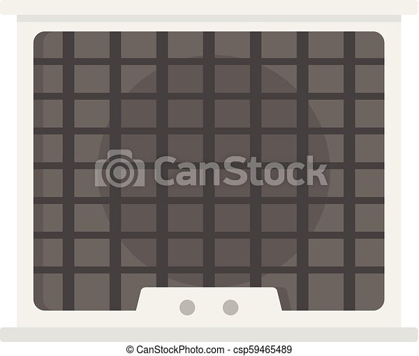 Air conditioner compressor icon, flat style - csp59465489