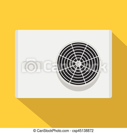 Air conditioner compressor unit icon, flat style - csp45138872