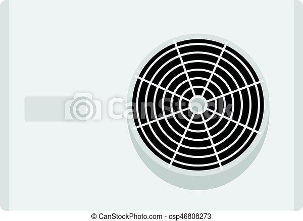 Air conditioner compressor unit icon isolated - csp46808273