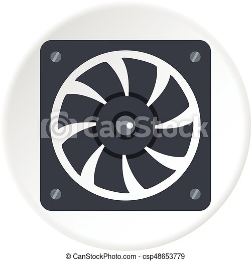 Air conditioner compressor unit icon circle - csp48653779