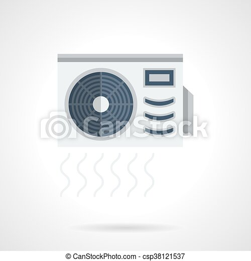Air conditioner flat color vector icon - csp38121537