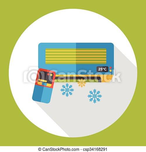 air conditioner flat icon - csp34168291
