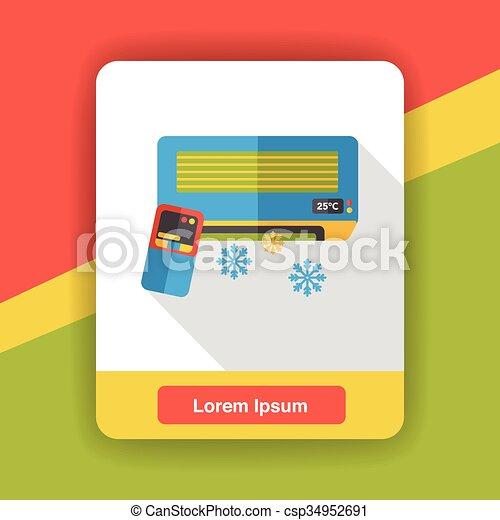 air conditioner flat icon - csp34952691
