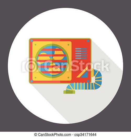 air conditioner flat icon - csp34171644