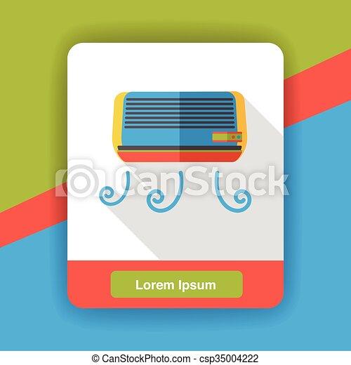 air conditioner flat icon - csp35004222