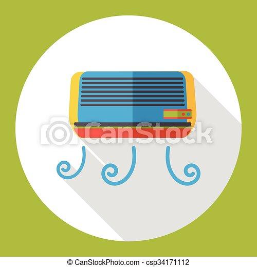 air conditioner flat icon - csp34171112