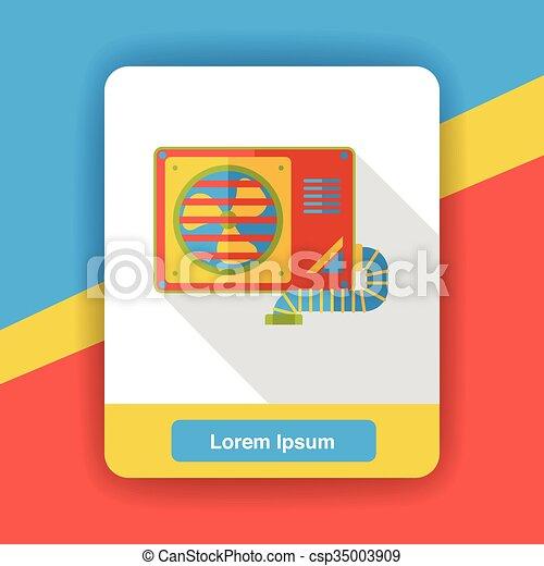 air conditioner flat icon - csp35003909