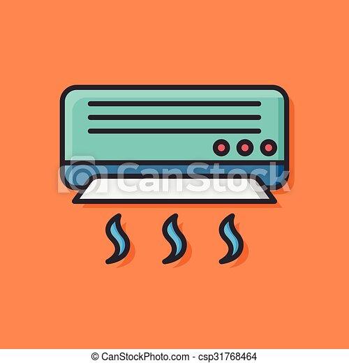 air conditioner icon - csp31768464