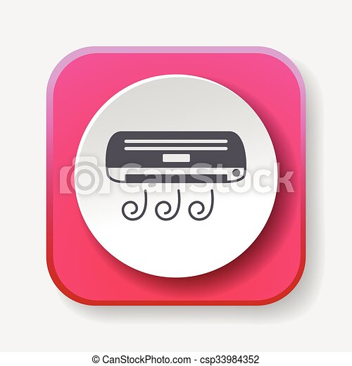 air conditioner icon - csp33984352