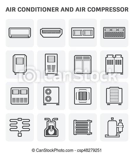 air conditioner icon - csp48279251