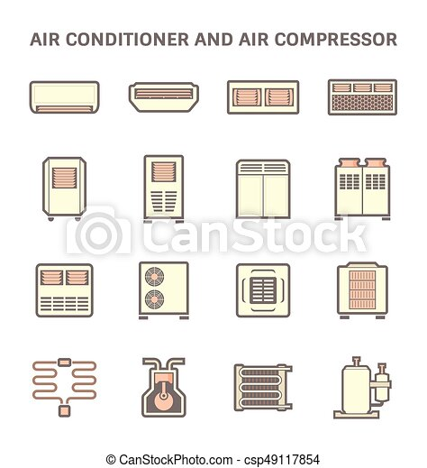 air conditioner icon - csp49117854