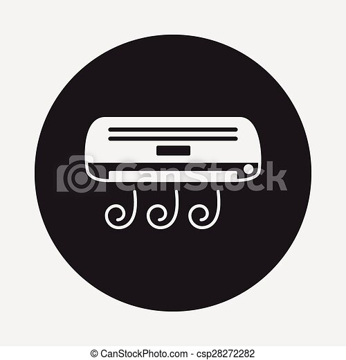 air conditioner icon - csp28272282