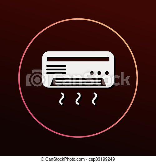 air conditioner icon - csp33199249