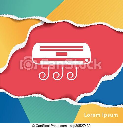 air conditioner icon - csp30527432