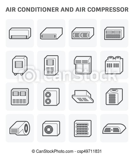 air conditioner icon - csp49711831