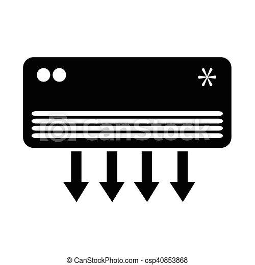Air Conditioner icon illustration design - csp40853868