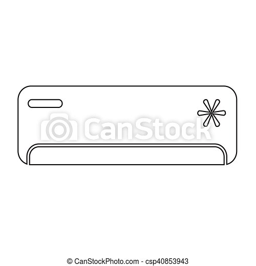 Air Conditioner icon illustration design - csp40853943