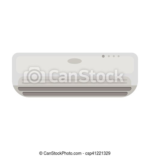 Air conditioner icon in monochrome style isolated on white background. Hotel symbol stock vector illustration. - csp41221329