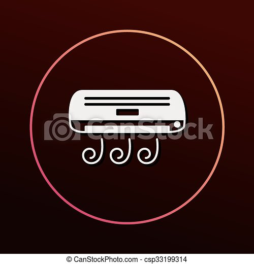 air conditioner icon - csp33199314