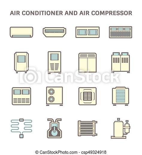 air conditioner icon - csp49324918