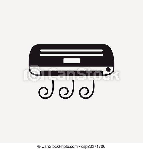 air conditioner icon - csp28271706