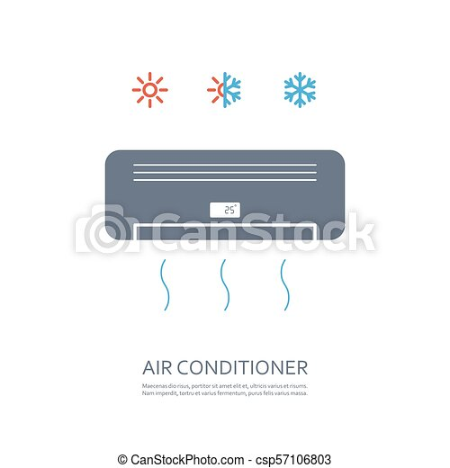 air conditioner icon - csp57106803