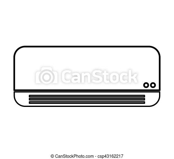 air conditioner isolated icon - csp43162217