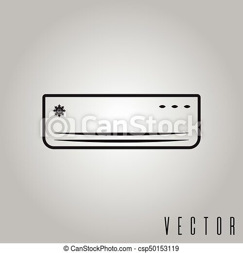 air conditioner isolated icon vector illustration - csp50153119