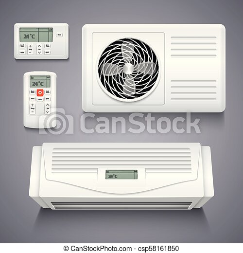 Air conditioner isolated realistic vector illustration - csp58161850