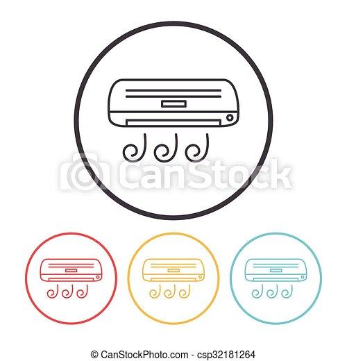 air conditioner line icon - csp32181264