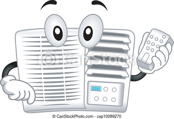 air conditioner mascot mascot illustration featuring an