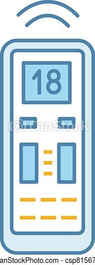 Air conditioner remote control color icon - csp81567670