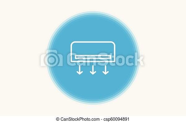 Air conditioner vector icon - csp60094891