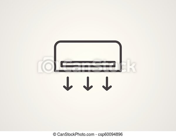 Air conditioner vector icon - csp60094896
