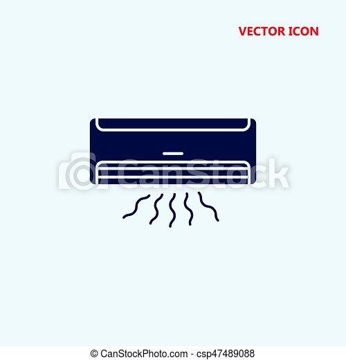 air conditioner vector icon - csp47489088