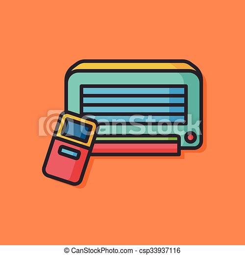 air conditioner vector icon - csp33937116