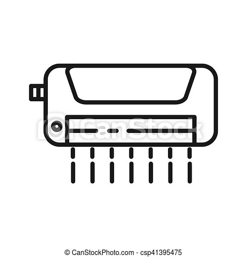 air conditioner vector illustration design - csp41395475