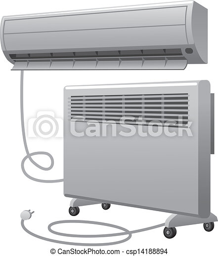 air conditioning and oil heater - csp14188894