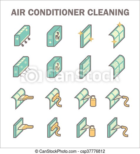 Air conditioning clean - csp37776812