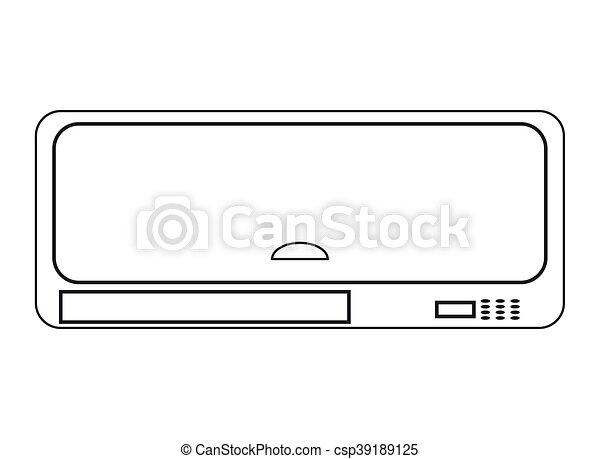 air conditioning icon - csp39189125