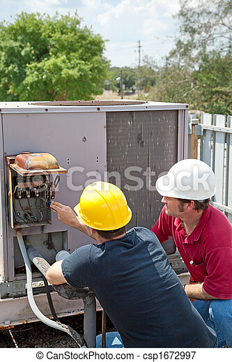 Air Conditioning Repair - Teamwork - csp1672997