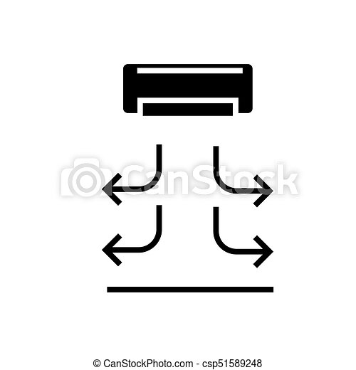 air curtain icon, vector illustration, black sign on isolated background - csp51589248