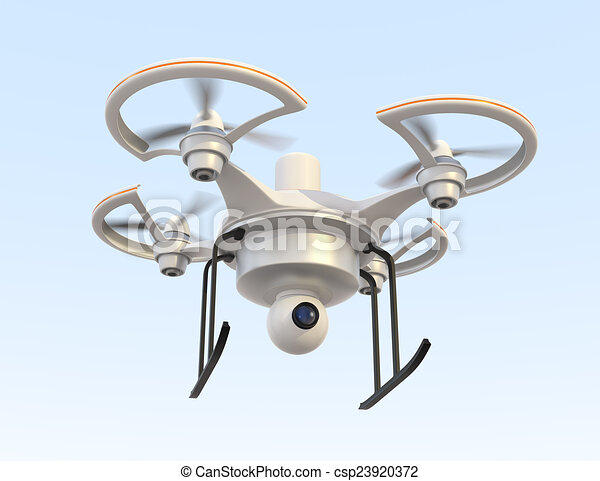 Air Drone With Camera For Security Stock Illustration